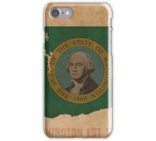 Washington State Flag Outline iPhone Case/Skin