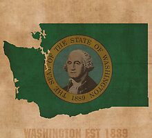 Washington State Flag Outline by map-lover