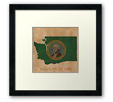 Washington State Flag Outline Framed Print