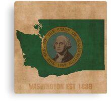 Washington State Flag Outline Canvas Print