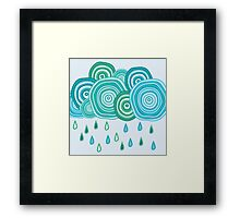 Funny rainy clouds Framed Print