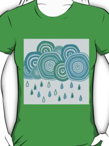 Funny rainy clouds T-Shirt