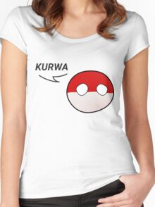 Just say Kurwa Women's Fitted Scoop T-Shirt