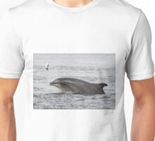 Dolphin Tossing Salmon Unisex T-Shirt