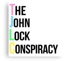 The Johnlock Conspiracy - Colorful Canvas Print