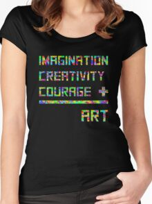 Imagination, creativity, courage = art Women's Fitted Scoop T-Shirt