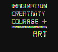 Imagination, creativity, courage = art Mens V-Neck T-Shirt
