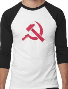 Red hammer sickle Men's Baseball ¾ T-Shirt