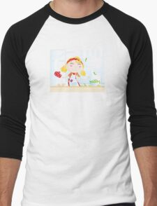 Funny kitchen girl. Cooking girl have fun in the kitchen Men's Baseball ¾ T-Shirt