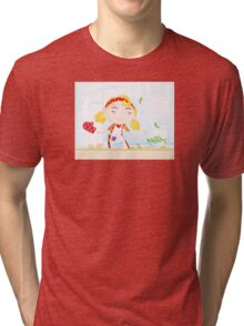 Funny kitchen girl. Cooking girl have fun in the kitchen Tri-blend T-Shirt