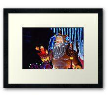 King Triton Paint the Night Framed Print