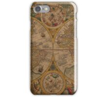 Map of the World 1599 iPhone Case/Skin