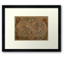 Map of the World 1599 Framed Print