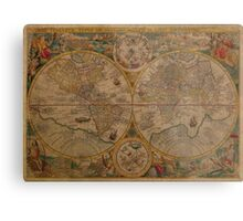 Map of the World 1599 Metal Print