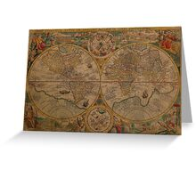 Map of the World 1599 Greeting Card