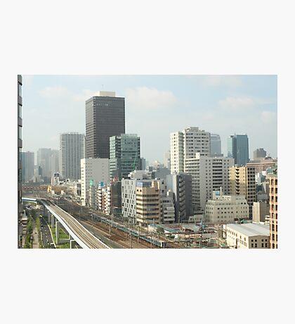 Shimbashi and Shiodome, Tokyo Japan Photographic Print