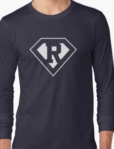 R letter in Superman style Long Sleeve T-Shirt