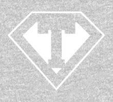 T letter in Superman style One Piece - Long Sleeve