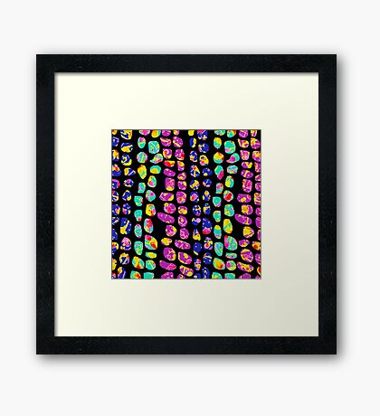 Marching Stones Framed Print