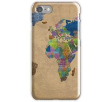 Jean Denim World Map iPhone Case/Skin
