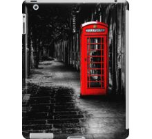London Calling - Red British Telephone Box iPad Case/Skin
