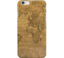 Ancient Map of the World Latin 1784 iPhone Case/Skin
