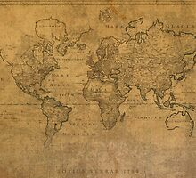 Ancient Map of the World Latin 1784 by map-lover