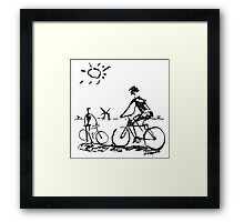 Picasso Bicycle - Biking Sketch Framed Print