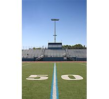 Football Field Fifty Photographic Print