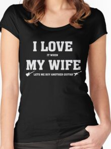 I Love It When My Lets Me Buy Another Guitar - Funny T-Shirt Women's Fitted Scoop T-Shirt