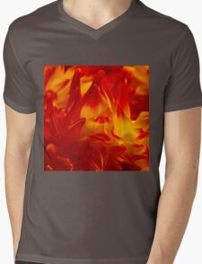 Evening on flower street Mens V-Neck T-Shirt