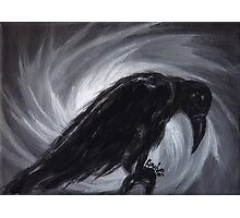 Dream the crow black dream. Photographic Print