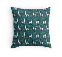 Really Calm Llamas Throw Pillow