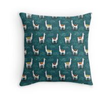 Really Calm Llamas Throw Pillow