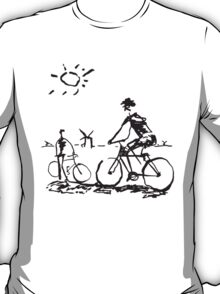 Picasso Bicycle - Biking Sketch T-Shirt