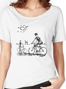 Picasso Bicycle - Biking Sketch Women's Relaxed Fit T-Shirt