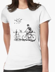 Picasso Bicycle - Biking Sketch Womens Fitted T-Shirt