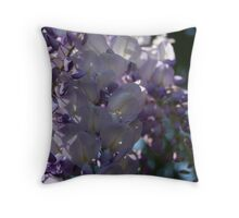 Wisteria Sunlight and Shadows Throw Pillow