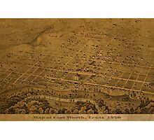 Map of Fort Worth Texas 1876 Photographic Print