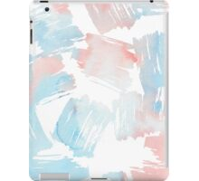 Pastel coral teal modern watercolor paint brushstrokes iPad Case/Skin