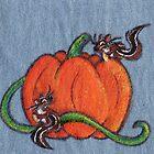 Pumpkin Patch Chipmunks by KOKeefeArt