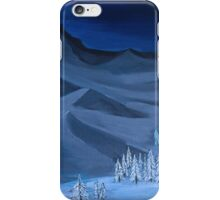 Late night on the mountain iPhone Case/Skin