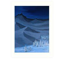 Late night on the mountain Art Print