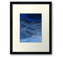 Late night on the mountain Framed Print