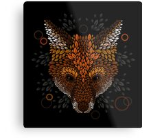 Fox Face Metal Print