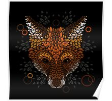 Fox Face Poster