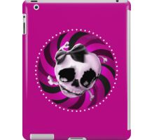 Girly Pink Skull with Black Bow iPad Case/Skin