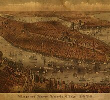 Map of New York City 1875 by map-lover