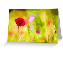 Poppy by David Tovey Greeting Card