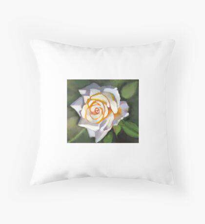Fauve color watercolor rose Throw Pillow